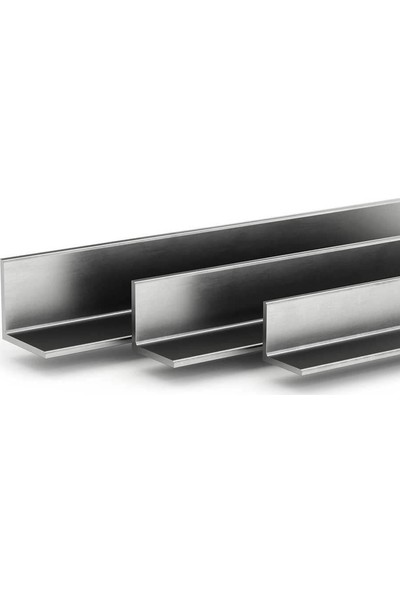 Ersaş Alüminyum '' L '' 15 x 15 mm Köşebent Profili Er 3860 Eloksal Parlak 6 Adet 1 m