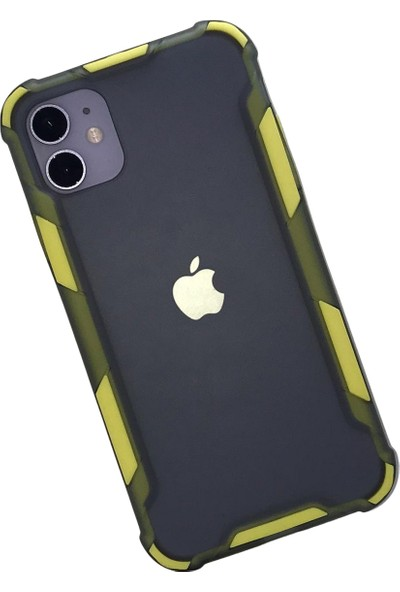 Gaga Apple iPhone 11 Kenarı Renkli Arka Kapak