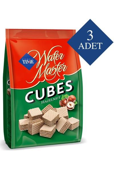 Çizmeci Time Wafer Master Cubes Fındıklı 200 gr Poşet 3 'lü Paket