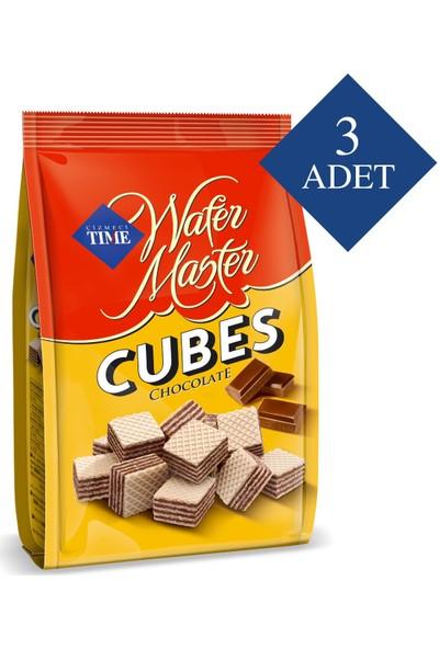 Çizmeci Time Wafer Master Cubes Çikolatalı 200 gr Poşet 3 'lü Paket