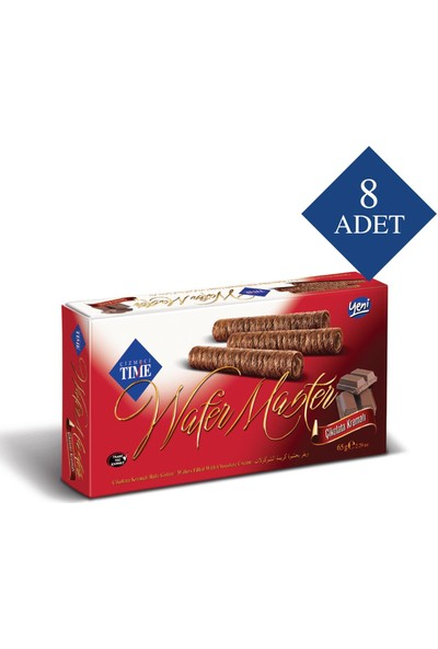 Çizmeci Time Wafer Master 65 gr Çikolatalı 8 'li Paket