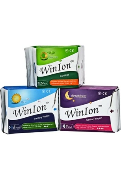 Winion Winalite Winion Negatif Iyonlu Ped - 1 Günlük + 1 Gündüz + 1 Gece