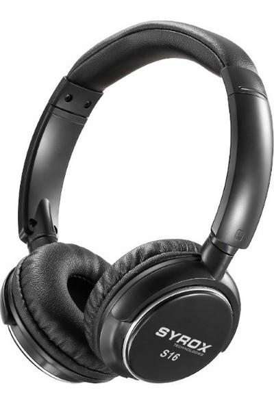 Syrox S16 Kablosuz Hafıza Kartlı Bluetooth Kulak Üstü Kulaklık