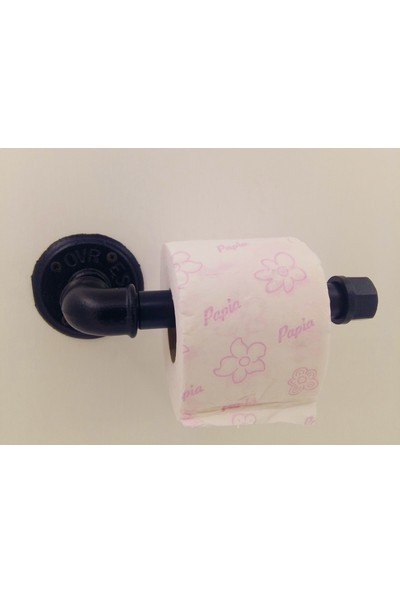 365gunserisonu Siyah Mat Fırın Boyalı Su Borusu Dizayn Tuvalet Kağıtlığı