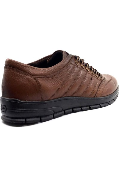 Berenni 197 Taba Deri Kaucuk Taban Erkek Ayakkabı