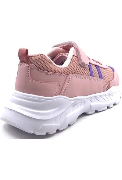 Cool 20-S01 Filet Somon-Mor Kız Çocuk Yazlık Spor Ayakkabı