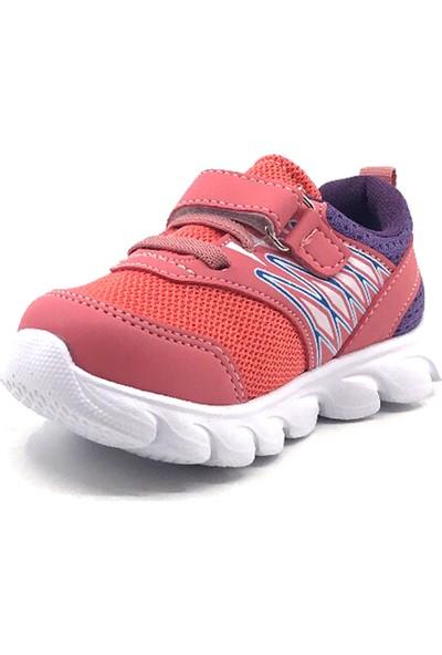 Cool 20-S12 Bebe Somon-Mor Kız Bebe Yazlık Spor Ayakkabı