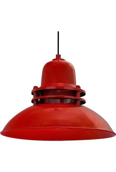Bamyum Fener Kırmızı Avize