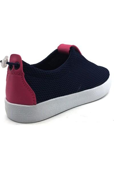 Cool S13 Spor Filet Lacivert-Fuşya Kız Çocuk Günlük Spor Ayakkabısı