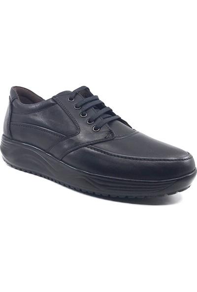 Forex Anatomic Siyah 2406 Rahat Deri Poli Taban Günlük Erkek Ayakkabı