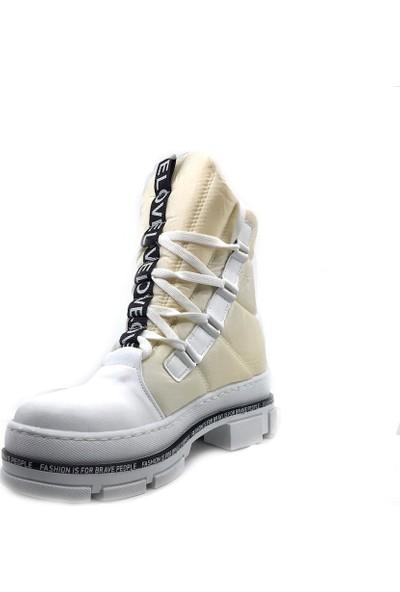 Scarletta 105 Beyaz Kışlık Kadın Kar Botu