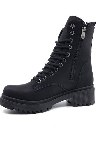 Scarletta 125 Deri Siyah Kışlık Kadın Botu