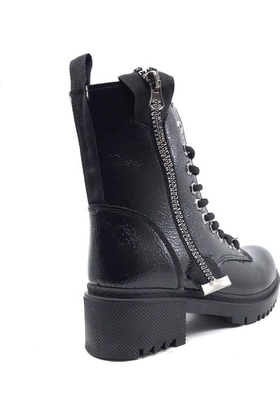 Scarletta 125 Parlak Siyah Kışlık Kadın Botu