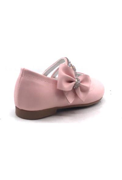 Sema Pudra Günlük Abiye Kız Çocuk Babet Ayakkabı