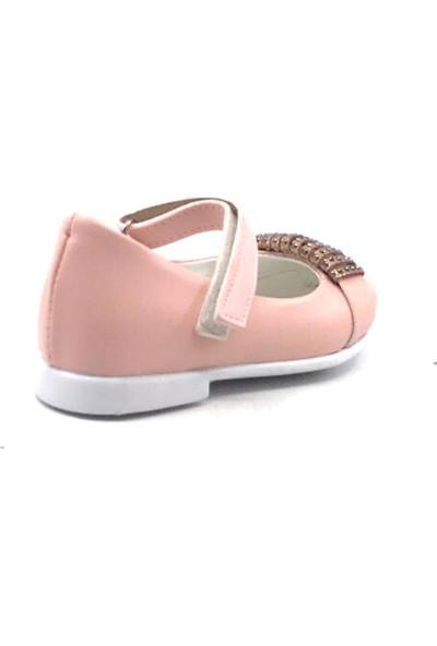 Sema Pudratokalı Günlük Abiye Kız Çocuk Babet Ayakkabı