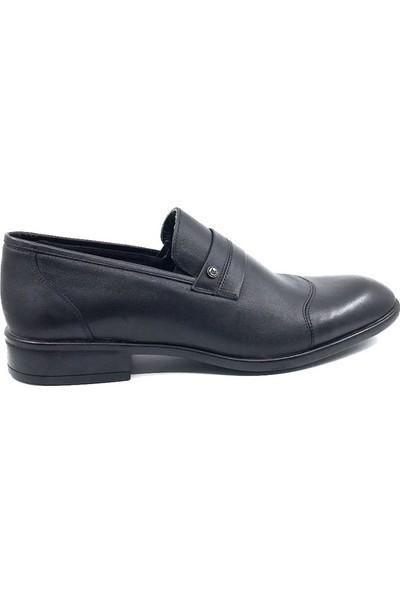 Teğmen 415 Antik Siyah Erkek Deri Ayakkabısı