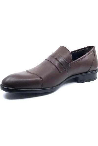 Teğmen Antik Kahve Erkek Deri Ayakkabısı