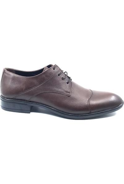 Teğmen Antik Kahve Ipli Erkek Deri Ayakkabısı