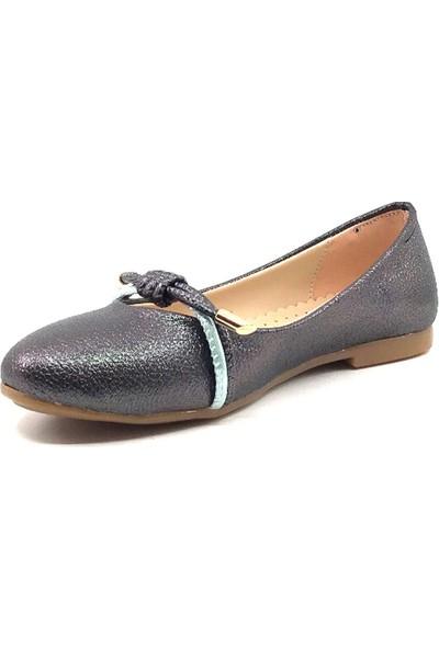 Vetta Siyah-Kristal Günlük Abiye Kız Çocuk Babet Ayakkabı