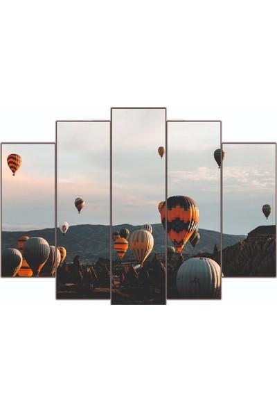 Nirvana Kapadokya Balon Manzara Temalı 5 Parçalı Tablo