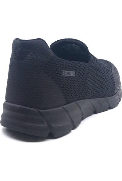 Scooter M5439 Siyah Erkek Fileli Yazlık Spor Ayakkabı