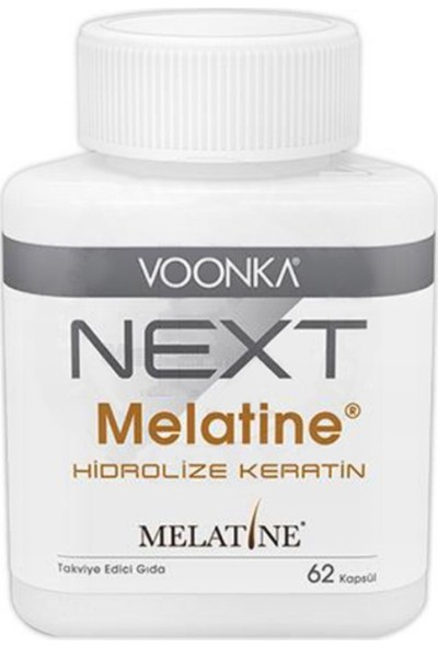 Voonka Next Melatine Hidrolize Keratin 62 Kapsül