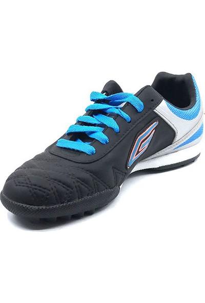 Dugana Everest Siyah-Gümüş Erkek Çocuk Halısaha Bağlı Ayakkabısı