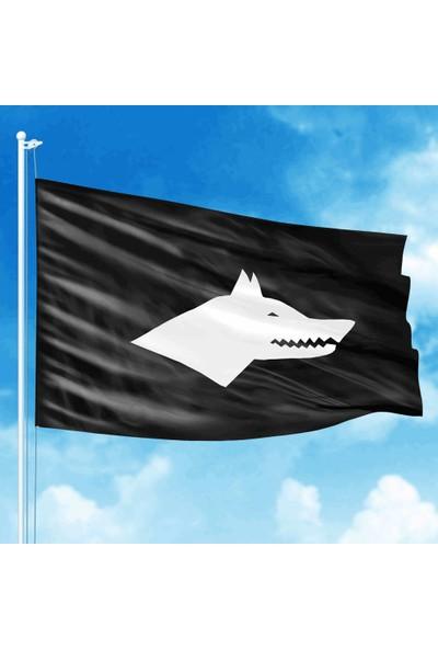 Asilmeydan Siyah Beyaz Göktürk Bayrak 17 Türk Devlet Bayrağı 70 x 105 cm
