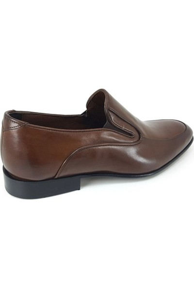 1115 Oskar Hakiki Kösele Erkek Ayakkabı-Kahverengi
