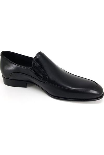 1115 Oskar Hakiki Kösele Erkek Ayakkabı-Siyah