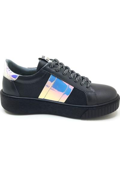 130 Mammamia Günlük Kadın Ayakkabı-Platin