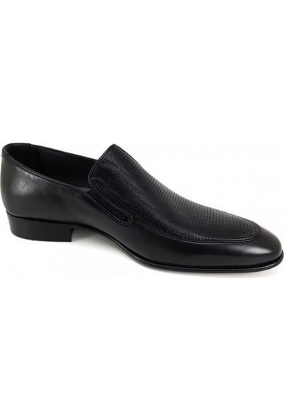 1537 Oskar Hakiki Kösele Erkek Ayakkabı-Siyah
