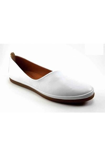 202 Estile Günlük Kadın Ayakkabı-Beyaz
