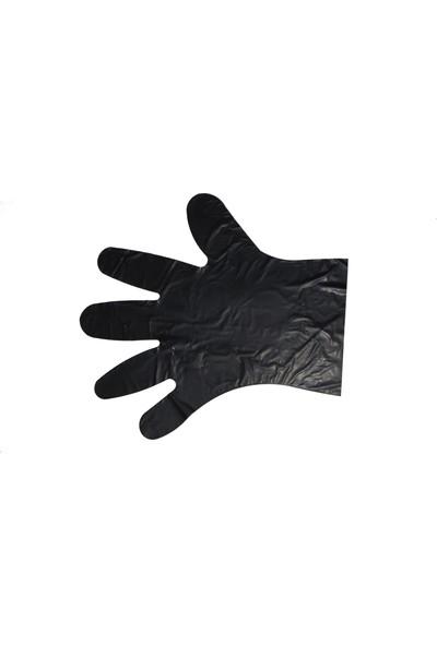 Ebruli Hibrit Poşet Eldiven Siyah 5'li (5X100 'li)
