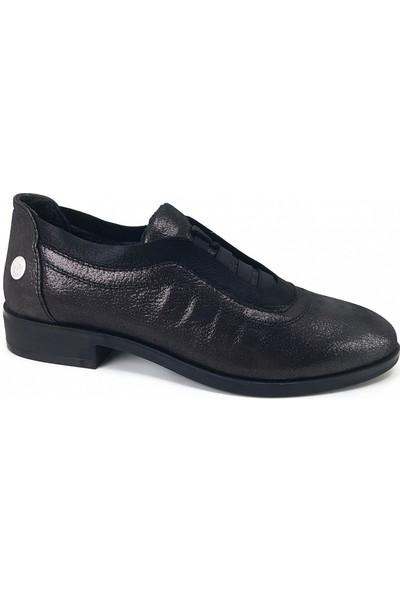 215 Mammamia Günlük Kadın Ayakkabı-Siyah Çelik