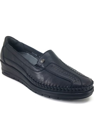25182 Forelli Günlük Kadın Ayakkabı-Siyah