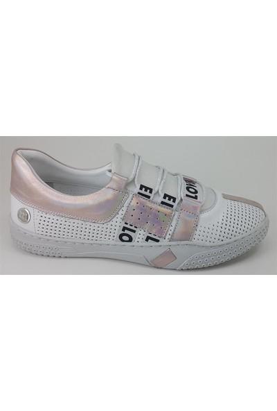 3555 Mammamia Günlük Kadın Ayakkabı-Beyaz