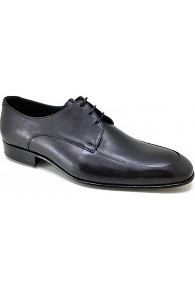 439 Oskar Hakiki Kösele Günlük Erkek Ayakkabı-Siyah