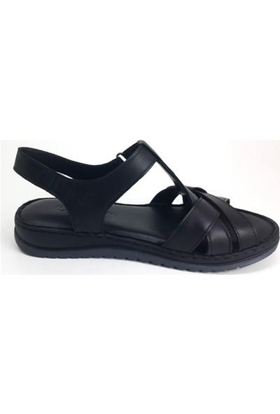 H20Y2135 Messimod Günlük Kadın Sandalet-Siyah