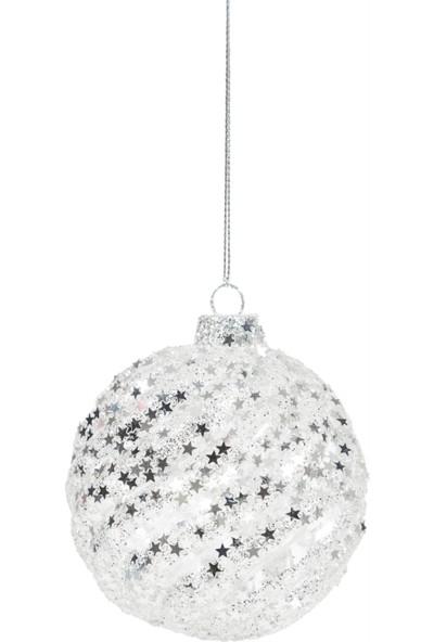 Mudo Concept Spıre Ağaç Süsü Gümüş 8Cm