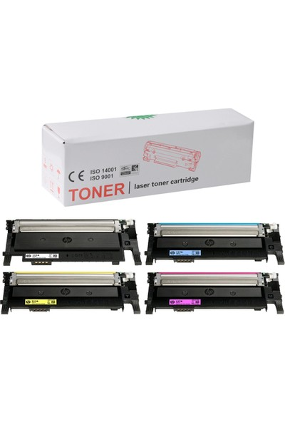İnkwell HP Color Laser Mfp 178NW-HP 117A Uyumlu 1 Set Muadil Toner