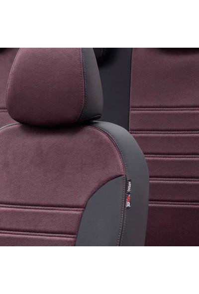 Otom Renault Clio 3 Hb 2005-2012 Özel Üretim Koltuk Kılıfı Milano Design Bordo - Siyah