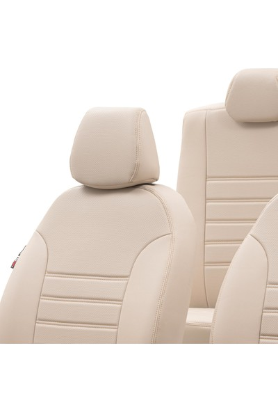 Otom Renault Clio 3 Hb 2005-2012 Özel Üretim Koltuk Kılıfı New York Design Bej