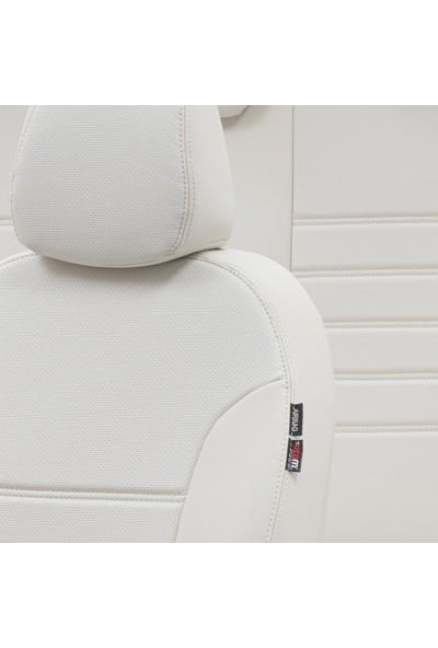 Otom Renault Clio 4 Hb/Sw 2012-Sonrası Özel Üretim Koltuk Kılıfı New York Design Fildişi