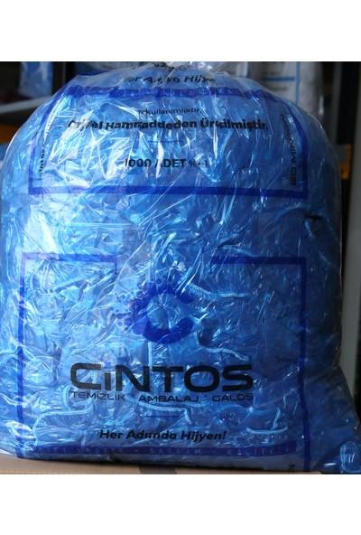 Cintos Kalın Dayanıklı Mavi Galoş 1000 Adet