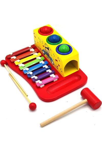 Sam Toys Ahşap Çakçak ve Ksilofon Oyuncağı
