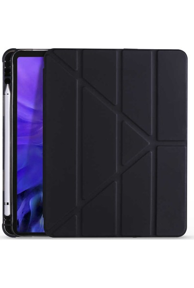 "Fibaks Samsung Galaxy Tab A7 SM-T500 2020 10.4"" Kılıf + Kalem Uyku Modlu Smart Tri Fodling Kapaklı Standlı Yumuşak Silikon"