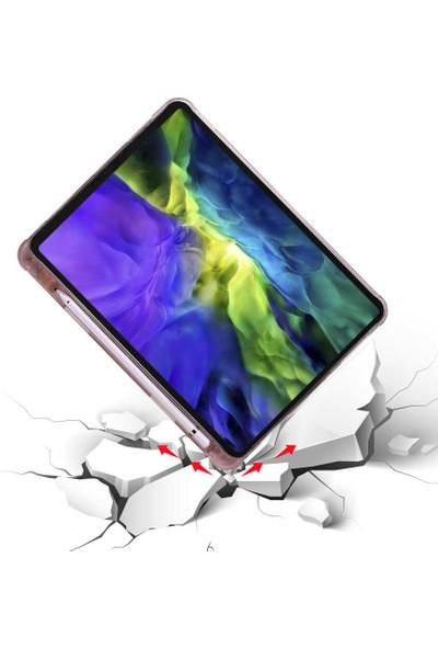 "Fibaks Samsung Galaxy Tab A7 SM-T500 2020 10.4"" Kılıf + Kalem + Ekran Koruyucu Uyku Modlu Smart Tri Fodling Kapaklı Standlı Yumuşak Silikon"