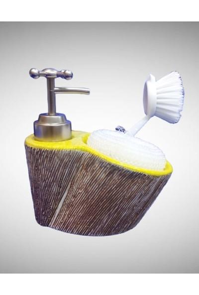 Çerçi Porselen Sıvı Sabunluk Sarı