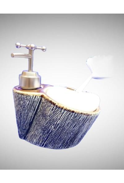 Çerçi Porselen Sıvı Sabunluk Kahverengi